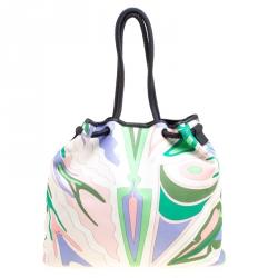 حقيبة يد إيميليو بوتشي كانفاس مطبوعة متعددة الألوان