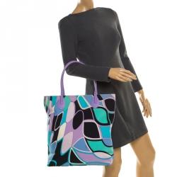 حقيبة شوبر إيميليو بوتشي كاناس وجلد متعددة الألوان
