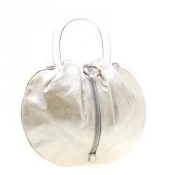 حقيبة كروس إيميليو بوتشي يد علوية جلد بيج فاتحة ميتالك