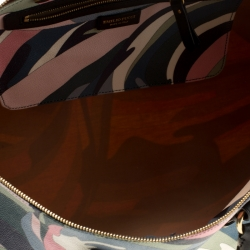 حقيبة دفل ايميليو بوتشي كانفاس مقوى بنقوش متعددة الألوان