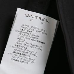 Emporio Armani Black Satin Side Stripe Detail Fitted Tuxedo Shorts M