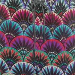 Emporio Armani Ethnic Floral Printed Silk High Rise Harem Pants S