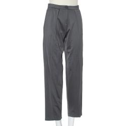 Emporio Armani Grey Knit Tailored Pants S