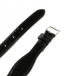 Emporio Armani Black Patent Leather Wavy Belt 115 CM