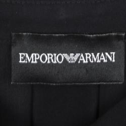 Emporio Armani Black Silk Belted Long Sleeve Tunic S