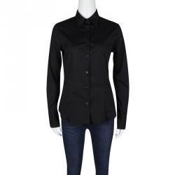 Emporio Armani Black Cotton Button Front Long Sleeve Shirt M