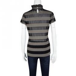 Emporio Armani Sheer Stripe Detail Short Sleeve T-Shirt M
