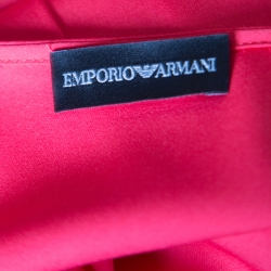 Emporio Armani Red Mulberry Silk Long Sleeve Blouse L