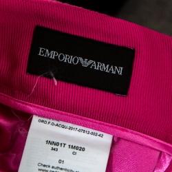 Emporio Armani Pink Wool Crepe Pencil Skirt M