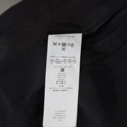 Emporio Armani Monochrome Jacquard One Button Blazer S