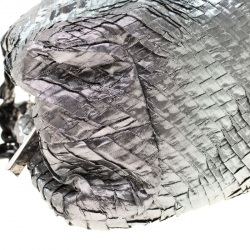 حقيبة ساتشل أرماني كوليزيوني نايلون مقوى فضية