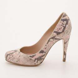 Emporio Armani Pink Python Pumps Size 38
