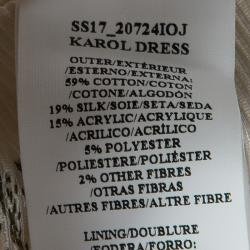 Erdem SS'17 Ivory Ottoman Jacquard Floral Karol Dress L