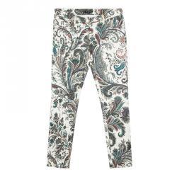 Etro Multicolor Paisley Print Slim Fit Denim Jeans XL