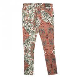 Etro Multicolor Printed Stretch Denim Skinny Jeans S