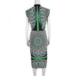 Etro Multicolor Floral and Paisley Printed Silk Dress M