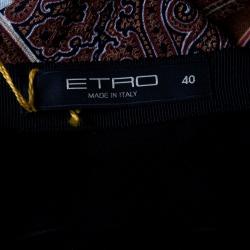 Etro Multicolor Paisley Printed Silk Maxi Skirt S