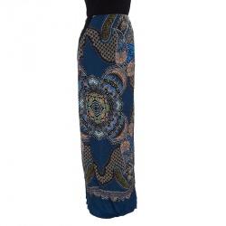 99c5cdcf7e3 Buy Alexander McQueen Agate-Print Silk-Satin Bustier Dress M 25563 ...
