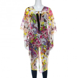 8f0753d09dc Etro Multicolor Floral Printed Cotton Silk Kaftan Tunic L