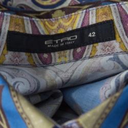 Etro Multicolor Baroque Printed Cotton Long Sleeve Button Front Shirt M