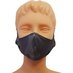 Non-Medical Handmade Grey Camouflage Cotton Face Mask - Pack of 5