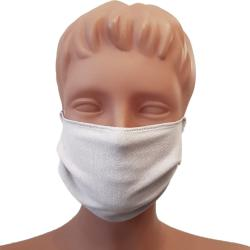 Non-Medical Handmade White Cotton Face Mask - Pack of 5