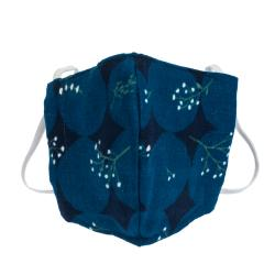 Non-Medical Handmade Blue Floral Printed Cotton Face Mask - Pack Of 2 (Available for UAE Customers Only)