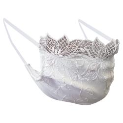 Non-Medical Handmade White Embroidered Lace and Cotton Face Mask - Pack Of 10 (Available for UAE Customers Only)