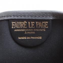 Fauré Le Page Grey Monogram Canvas Daily Battle Tote