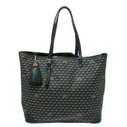 Faure Le page Green Coated Canvas Daily Battle 37 Tote