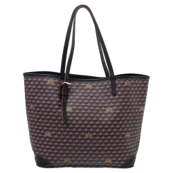 Fauré Le Page Burgundy Monogram Canvas and Leather Daily Battle Tote