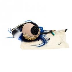 Fendi Blue Leather Punkito Bag Charm
