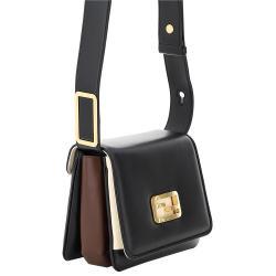 Fendi Black Leather ID Small Shoulder Bag