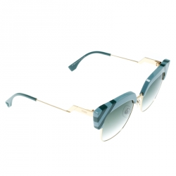 5c1c7741284c Fendi Azure Blue/ Green Gradient FF 0241/S Waves Square Sunglasses