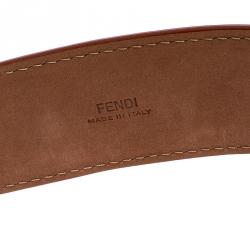 Fendi Orange Leather Studded Belt 80CM