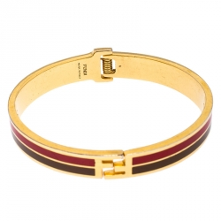 Fendi Gold Tone Bicolor Enamel Fendista Bracelet