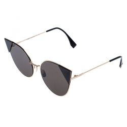 Fendi Rose Gold Tone /Brown FF0191/S Cat Eye Sunglasses
