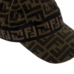 Fendi Brown Zucca Print Baseball Cap S