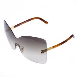 Fendi Brown/Green Gradient Runway Rimless Sunglasses