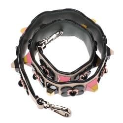 Fendi Multicolor Leather Embellished Interchangeable Shoulder Strap