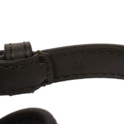Fendi F Is Fendi Green Leather Gold Tone Double Wrap Bracelet M