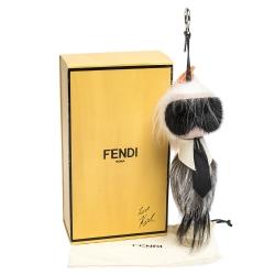 Fendi Multicolor Fur and Leather Karlito Bag Charm