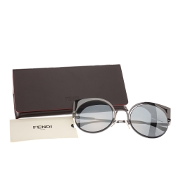 Fendi Gunmetal Black Mirror FF 0177/S Sunglasses