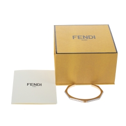 Fendi Spike Two Tone Open Cuff Bracelet