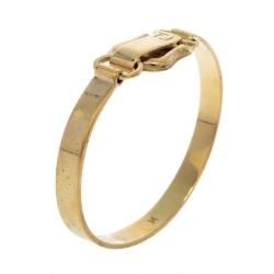 Fendi FF Gold Tone Hook Bracelet