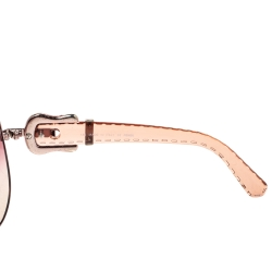 Fendi Rose Gold/Pink Gradient FS411 Aviator Sunglasses