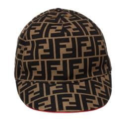 Fendi Brown Canvas Fendirama Baseball Cap (One Size)
