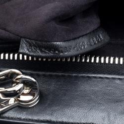 Fendi Black Quilted Leather Dotcom Click Shoulder Bag