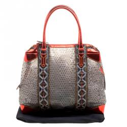 Fendi Multicolor Zucca Canvas and PVC Beaded Tote