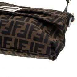 Fendi Tobacco Zucca Canvas Mia Flap Bag